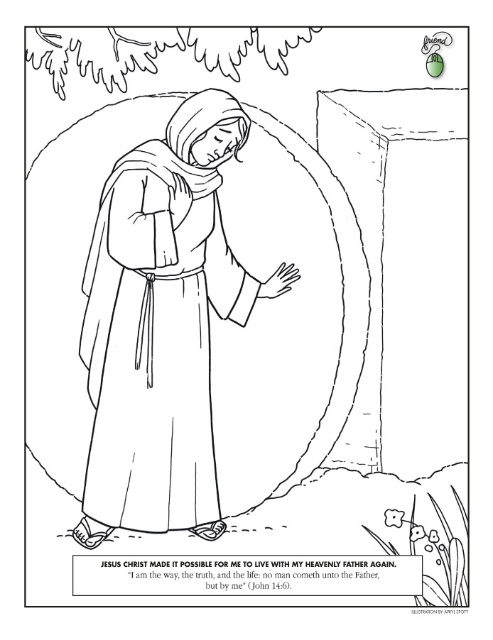 mary at the tomb - Lds Easter Coloring Pages